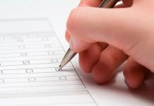 formulario rellenar documento escribir